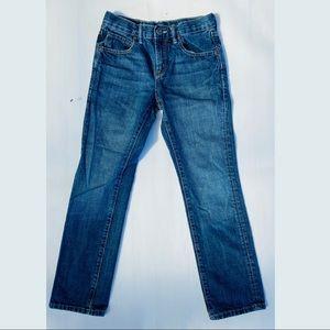 Gap kids Slim straight fit dark wash jean 10
